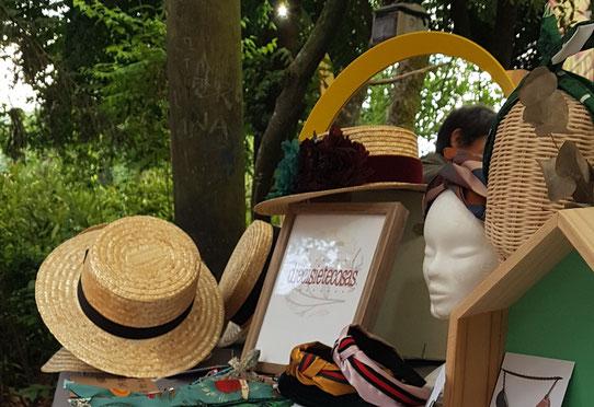 Sombreros de paja con cinta estilo canotier de moda para verano