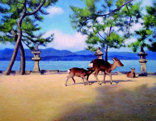 「育む」 油彩 318×410mm
