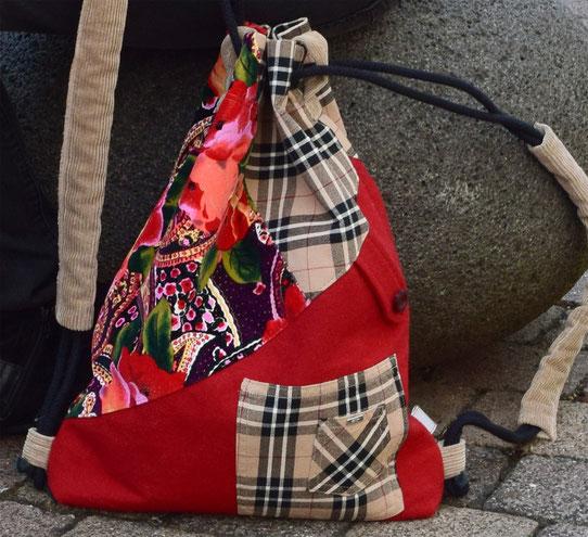 Upcycling Rucksach von wach geküsst