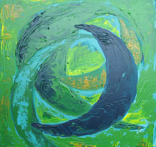 Energiebild grün-blau © Ines Nandi