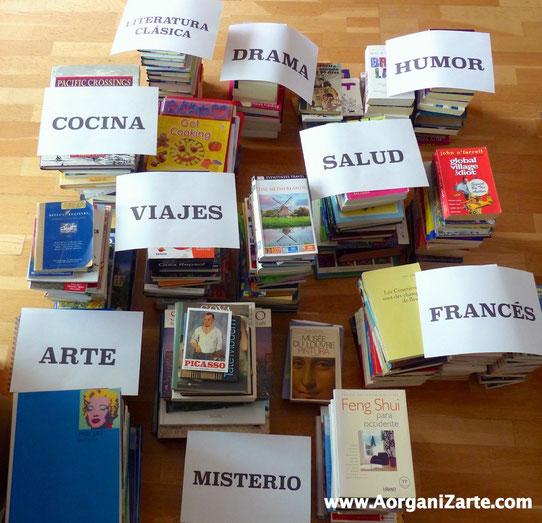 Clasifica los libros antes de colocarlos - AorganiZarte
