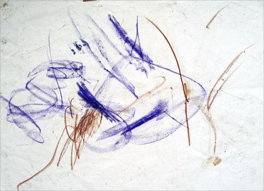 Sita 0102, 2008, Wachsmalstift auf Papier