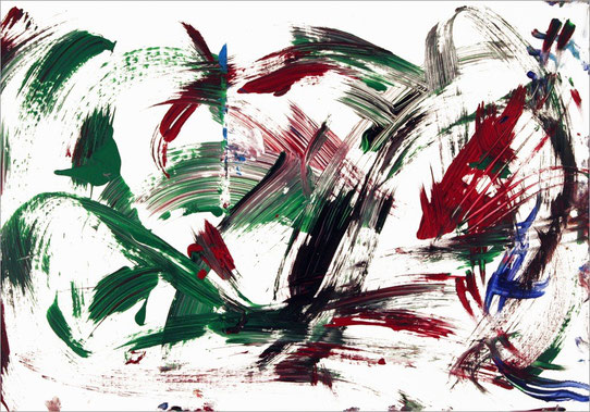 Tilda 0020, 2008, 31 x 45 cm, Fingerfarben auf Papier