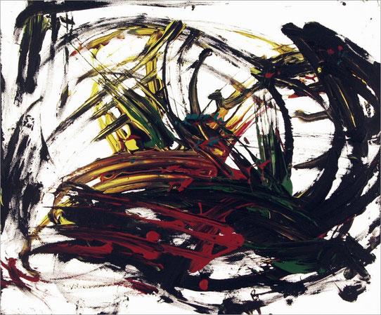 Barito 0283, 2014, 50 x 60 cm, Fingerfarben auf Leinwand