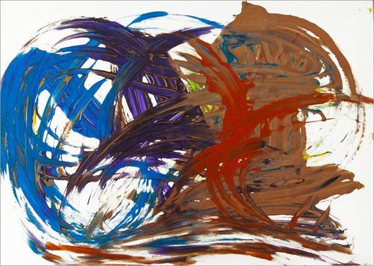 Barito 0163, 2012, 50 x 70 cm, Fingerfarben auf Leinwand