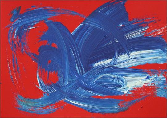 Barito 0119, 2012, Fingerfarben auf Pappe
