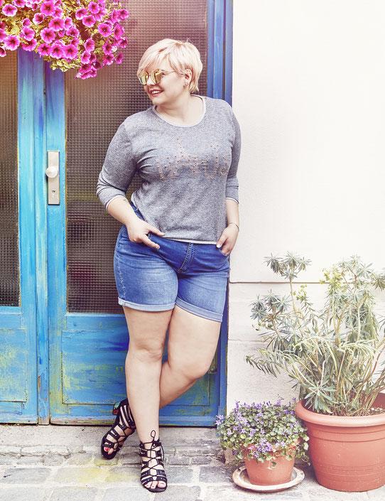 Sommer Sale für mollige Frauen , Blusen für kurvenreiche Frauen