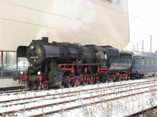 Am 27. November 2010 fuhr ein Sonderzug von Berlin nach Chemnitz. Hier kam der Zug gerade in Chemnitz Hbf. an