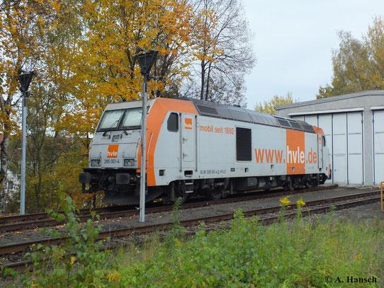 Am 20. Oktober konnte 285 001-4 der hvle in Chemnitz Küchwald