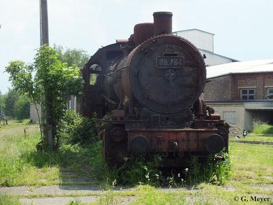 50.764 (ex CFL) am 08. Juni 2013 im Bw Falkenberg. Es handelt sich hier um einen rumänischen Nachbau der preußischen G10 (BR 57). Die Lok gehört zur Sammlung Falz