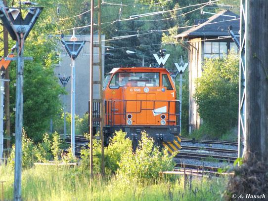 275 020-6 der northrail GmbH steht am 5. Juni 2013 im Abstellbereich am AW Chemnitz