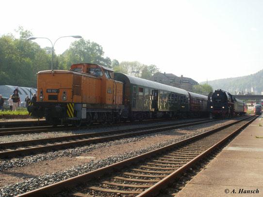 Am 22. Mai 2010 fuhr ein Sonderzug mit 01 509-8 von Schwarzenberg nach Neuenmarkt-Wirsberg. Aufgrund der engen Kurven zwischen Schwarzenberg und Aue konnte 01 509-8 den Zug erst ab Aue befördern...