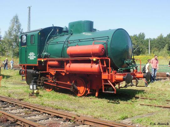 Die letzte Dampfspeicherlok im SEM Chemnitz, welche am 22. August 2011 zu sehen war, ist Lok FLB. Sie war unter anderem im VEB Vereinigte Zellstoffwerke Coswig im Einsatz und wurde im August 2000 von einem Schrotthändler in Coswig erworben