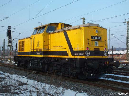 Am 28. März 2013 fuhr 202 481-8 (V100.01 der R.P. Eisenbahn GmbH) Lz von Lichtenstein nach Hainichen. Hier wartet sie in Chemnitz Hbf. auf Ausfahrt