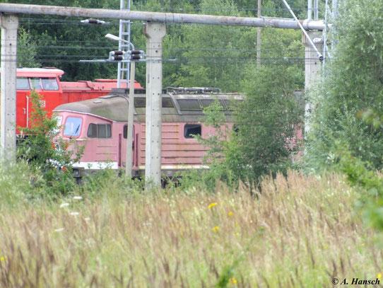 """Bei dieser """"Ludmilla"""" im Güterbahnhof Mukran Mitte handelt es sich höchstwahrscheinlich um 232 070-3 (10. August 2012)"""
