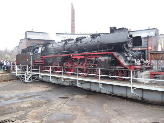 Am 27. März 2010 war 03 2204-0 zu Gast zum 2. Dresdner Dampfloktreffen im Bw Dresden Altstadt