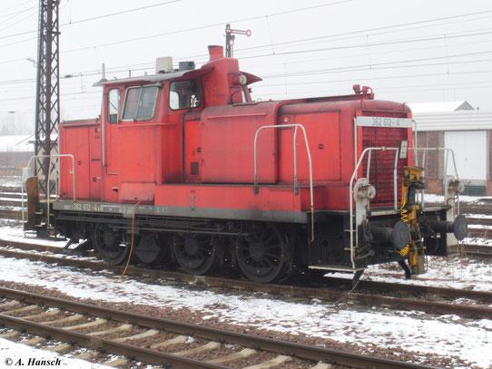 362 612-4 steht am 23. Januar 2011 in Chemnitz Hbf.