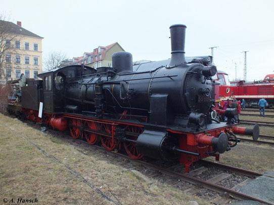 Ein Exemplar der preußischen G7 steht im Bw Dresden Altstadt. Auch zum 5. Dresdner Dampfloktreffen am 6. April 2013 war 55 669 zu sehen