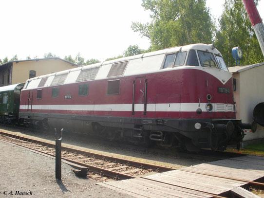 118 776-4 am 2. Juni 2011 im Bw Schwarzenberg. Die Lok ist nicht mehr betriebsfähig