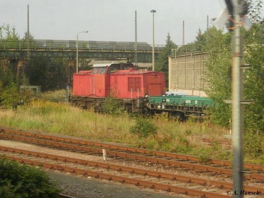 Als ich am 4. September 2011 mit dem Zug Richtung Dresden fuhr, konnte ich die im AW Chemnitz stehende 202 066-7 fotografieren