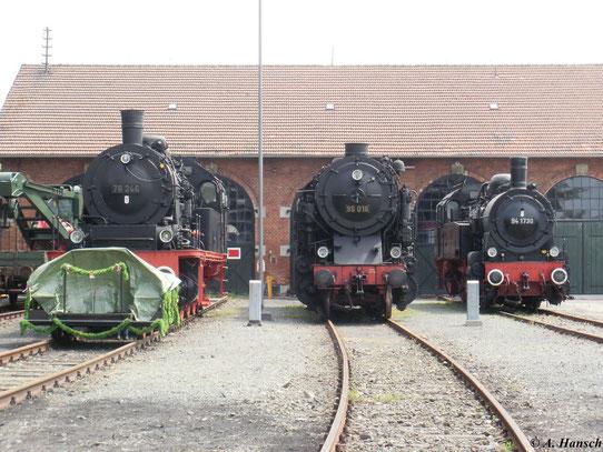 Im Deutschen Dampflokmuseum Neuenmarkt-Wirsberg war am 22. Mai 2010 94 1730 neben 78 246 und 95 016 zu sehen