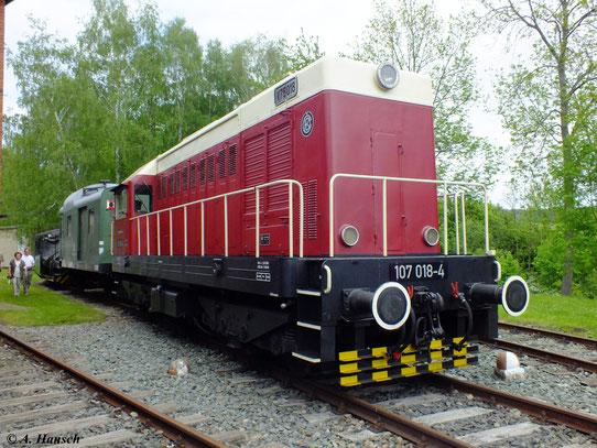 V75 018-4 (später als 107 018-4 bezeichnet) ist heute sogar noch betriebsfähig. Mit ihren 750 PS galt die Lok als leichte Rangierlokomotive und wurde hauptsächlich in den Leipziger Bahnhöfen eingesetzt