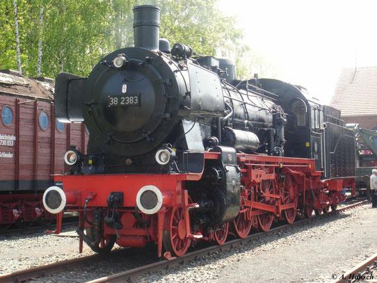 Auch 38 2383 steht im Deutschen Dampflokmuseum in Neuenmarkt-Wirsberg. Sie war die vorletzte P8 bei der DB