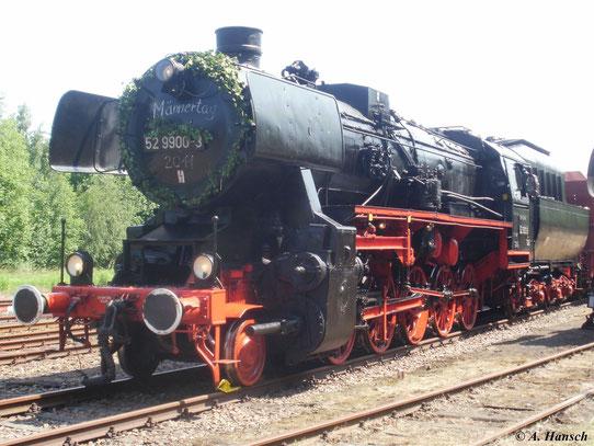 Am 2. Juni 2011 war 52 9900-3 im Bw Schwarzenberg zu Gast. Sie ist die einzige erhaltene 52er mit Kohlenstaubfeuerung