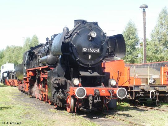 52 1360-8 war zum 20. Heizhausfest am 21. August 2010 im SEM Chemnitz zu Gast.Diese 52er ist keine Rekolok, sie wurde jedoch generalüberholt, wobei sie den Mischvorwärmer erhielt und ihr Kessel überholt wurde. Sie wird deshalb auch als BR 52 GR bezeichnet