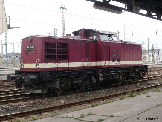 Am 7. April 2011 steht 202 646-6 der Erzgebirgsbahn in Chemnitz Hbf.