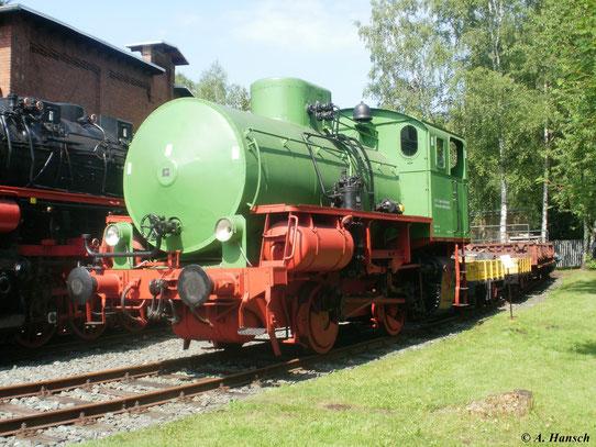 Die am 2. Juni 2011 ausgestellte Dampfspeicherlok war in der Papierfabrik Niederschlema im Einsatz
