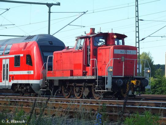 Hier ist die Maschine am 21. Juni 2013 am AW Chemnitz bei der Arbeit zu sehen