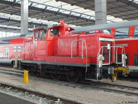 Am 15. Februar 2013 stand für Rangierarbeiten 363 149-6 in Chemnitz Hbf.