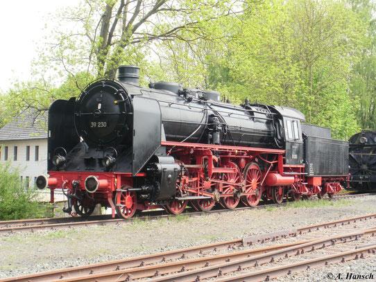 Im Deutschen Dampflok Museum in Neuenmarkt-Wirsberg steht 39 230, hier am 22. Mai 2010.Sie ist eine von zwei erhaltenen Exemplaren der preußischen P10