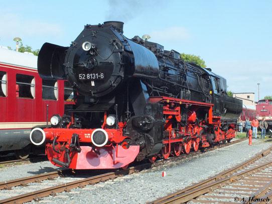 Zu den XVIII. Meininger Dampfloktagen am 1. September 2012 war auch die WFL-Lok 52 8131-6 zu Gast