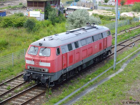 Am 21. Juli 2012 rangierte 218 832-4 am Bahnhof Berlin Warschauer Straße