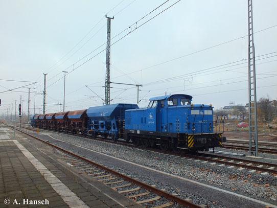 Am 16. November 2013 steht 345 091-3 (PRESS 346 025-8) auf einem der neuen Außengleise des Chemnitzer Hbf. und wartet auf neue Aufgaben