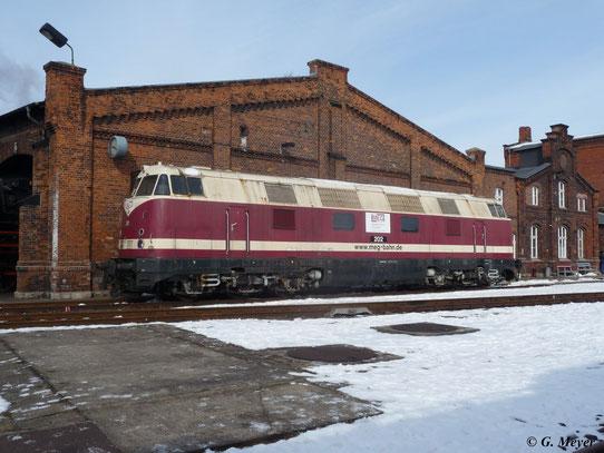 Die Lok trägt noch heute die originale Reichsbahn-Lackierung