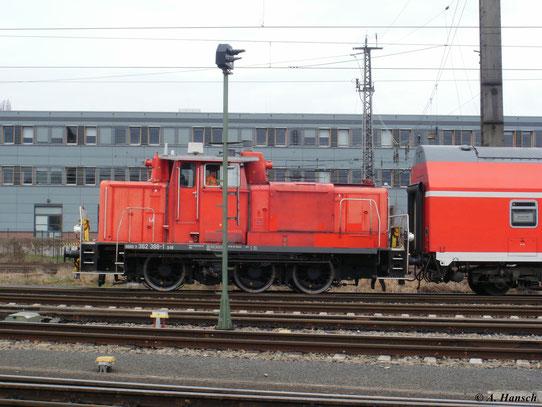 362 388-1 am 27. März 2010 beim Rangieren in Dresden Altstadt