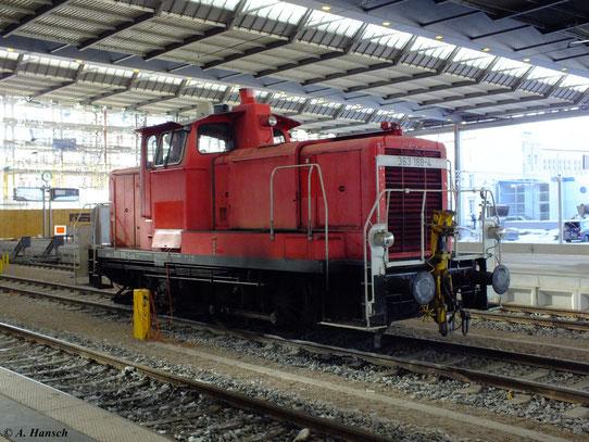 363 188-4 am 7. Dezember 2012 in Chemnitz Hbf.