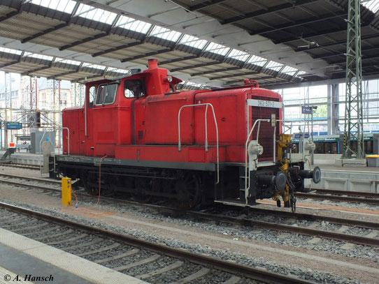 Am 28. Mai 2013 verrichtet 362 571-2 die Rangierarbeit in Chemnitz Hbf.