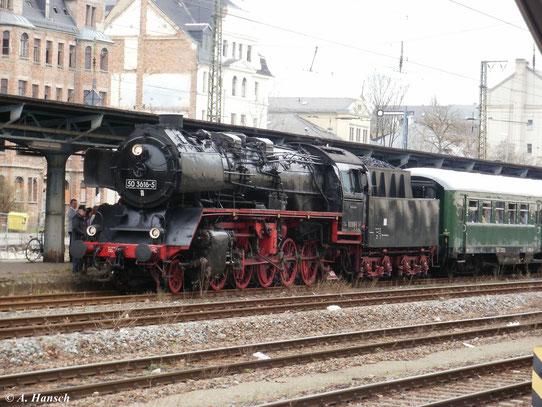 Am 4. April 2010 fuhr ein Ostersonderzug von Schwarzenberg nach Wolkenstein. Zuglok war 50 3616-5, die aufgrund eines Kreuzkopfschadens einen unfreiwilligen 2 Stunden Aufenthalt in Chemnitz Hbf. hatte