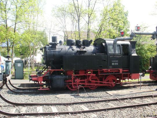80 013 am 22. Mai 2010 im Deutschen Dampflokmuseum in Neuenmarkt-Wirsberg