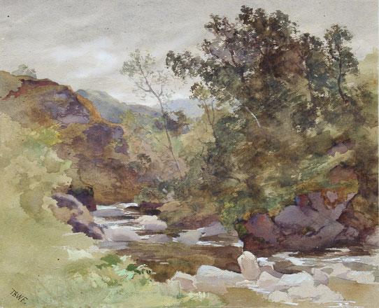 Karl Lang Archiv, Büsingen Thomas Burton Watkin Forster TBWF Aquarell watercolor