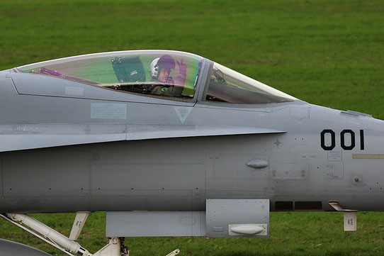 "Swiss Air Force - F-18 ""Hornet"" J-5001 ""friendly pilot"" Airbase Payerne"