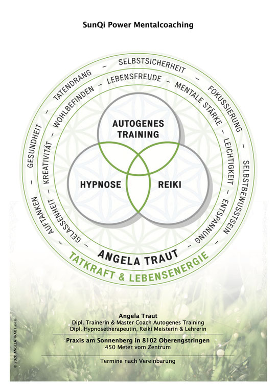 #Entspannung #Leichtigkeit #Tatkraft #Lebensenergie #AngelaTraut wieder ins Gleichgewicht kommen #AutogenesTraining #Reiki #Hypnose #Selbstharmonisierung #Resilienz