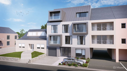 PROGRAMME NEUF - RESIDENCE BELLE DAME - BASCHARAGE - 6 APPARTEMENTS + 1 SURFACE DE BUREAU