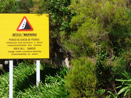 Madeira - Warnschild