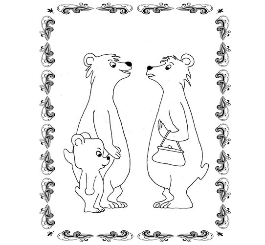Ulli Verlag, Ausmalbild für Kinder mit Bär