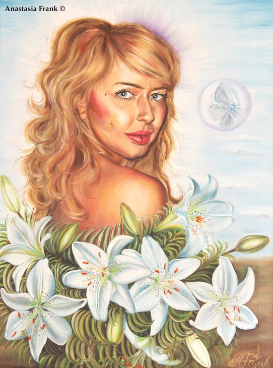 Tatyana/Portrait, 60 x 80 cm, oil on canvas (2011), Anastasia Frank